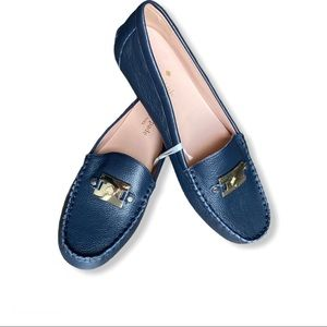 Kate Spade Carmen leather loafers Navy Blue 8.5